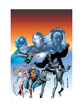 Giant-Size Marvel Adventures The Avengers No.1 Cover: Captain America Posters by Kirk Leonard