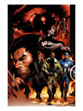 Ultimate Nightmare No.1 Cover: Nick Fury, Captain America, Wolverine and Colossus Print by Hairsine Trevor