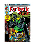 Fantastic Four #247 Cover: Dr. Doom, Mr. Fantastic, Invisible Woman, Human Torch and Thing Affiches van John Byrne