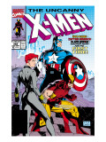 Uncanny X-Men 268 Cover: Black Widow, Wolverine and Captain America Posters par Lee Jim