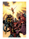 Ultimate X-Men 93 Cover: Wolverine, Phoenix, Apocalypse and Onslaught Poster von Salvador Larroca