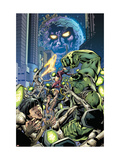 Fantastic Force No.3 Cover: Ego, Hulk and Wolverine Prints by Bryan Hitch