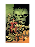 World War Hulk: Aftersmash No.1 Cover: Hulk, Iron Man and Hercules Art by Land Greg
