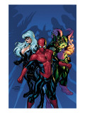 Marvel Knights Spider-Man 11 Cover: Green Goblin, Spider-Man and Black Cat Art by Terry Dodson