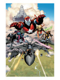 Siege 1 Group: Iron Patriot, Hawkeye, Ms. Marvel, Wolverine, Spider-Man and Ares Prints by Coipel Olivier