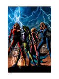 She-Hulk 34 Cover: She-Hulk, Thundra, Valkyrie and Invisible Woman Affiches par Mike Deodato Jr.