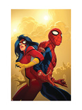 New Avengers No.59 Cover: Spider-Man and Spider Woman Prints by Immonen Stuart