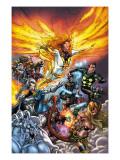 X-Men: Messiah Complex - Mutant Files Cover: Phoenix, Magik and Madrox Affiches par Scott Kolins