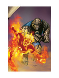 Ultimate Fantastic Four 41 Cover: Thing and Human Torch Prints by Salvador Larroca