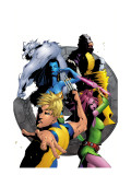 Exiles 50 Cover: Mimic, Blink, Sasquatch, Namora, Beak and Exiles Poster by Mizuki Sakakibara