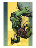 Ultimate Wolverine vs. Hulk #6 Cover: Hulk and Wolverine Print van Leinil Francis Yu