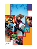 Marvel Adventures Avengers 27 Cover: Giant-Girl Posters by Kirk Leonard