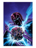 House of M: Masters of Evil No.4 Cover: Magneto Prints by Mike Perkins