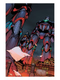 Decimation: House Of M Day After 1 Cover: Sentinel Crouching Print by Green Randy