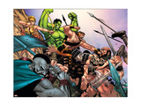 Hulk Vs. Hercules: When Titans Collide 1 Group: Hulk, Thor and Dr. Strange Prints by Eric Nguyen