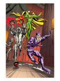 Exiles 5 Group: Vision, Ultron and Machine Man Poster par Casey Jones