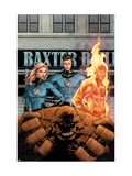 Marvel Knights 4 11 Cover: Mr. Fantastic, Invisible Woman, Human Torch, Thing and Fantastic Four Poster by MCNiven Steve