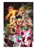 Nova 20 Cover: Nova, Speedball, Night Thrasher, Firestar and Namorita Print by Steve Uy