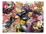 Ultimate X-Men 85 Group: Storm, Wolverine and Sentinel Print by Paquette Yanick