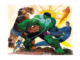 Fall of the Hulks: Gamma 1 Group: Hulk, Thing, Invisible Woman, Mr. Fantastic and Human Torch Posters by Romita Jr. John