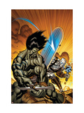 Skaar: Son Of Hulk No.7 Cover: Skaar and Silver Surfer Prints by McGuiness Ed