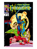 Excalibur 16 Cover: Nightcrawler, Phoenix, Shadowcat and Kymri Posters by Davis Alan