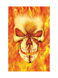 Ghost Rider 15 Headshot: Ghost Rider Poster by Texeira Mark