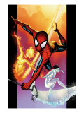 Ultimate Spider-Man #118 Cover: Spider-Man, Iceman and Firestar Arte por Stuart Immonen