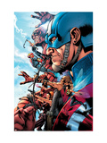 The Ultimates 2 No.1 Cover: Captain America Print by Bryan Hitch