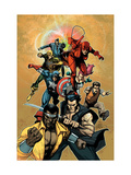 New Avengers No.34 Cover: Cage, Luke, Wolverine, Captain America and Daredevil Prints by Leinil Francis Yu