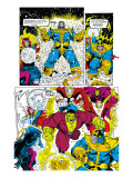 Infinity Gauntlet 6 Group: Thanos, Hulk, Thor and Dr. Strange Posters by George Perez
