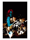 Wolverine No.35 Cover: Wolverine and Mystique Poster