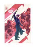 New Avengers No.47 Cover: Hawkeye Prints