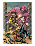 Ultimate X-Men No.85 Cover: Storm, Wolverine and Sentinel Prints by Paquette Yanick