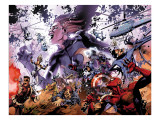 Secret Invasion 8 Group: Wasp, Spider-Man, Nick Fury, Captain America, and Norman Osborn Prints by Yu Leinil Francis
