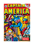 Captain America No.16 Cover: Captain America, Red Skull and Bucky Fighting Prints by Al Avison