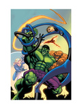 Marvel Age Fantastic Four No.12 Cover: Hulk Prints by Green Randy