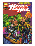 Heroes For Hire 1 Cover: Cage, Luke, Iron Fist, Hulk and Black Knight Posters by Ferry Pascual