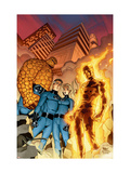 Fantastic Four 510 Cover: Mr. Fantastic, Invisible Woman, Human Torch, Thing and Fantastic Four Prints by Mike Wieringo