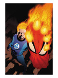 The Amazing Spider-Man No.591 Cover: Human Torch Poster by Kitson Barry