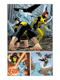 X-Men: First Class 11 Group: Beast, Iceman and Marvel Girl Print by Dragotta Nick