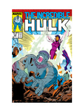 Incredible Hulk No.338 Cover: Mercy and Hulk Charging Prints by Todd McFarlane