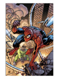 Marvel Adventures Spider-Man No.45 Cover: Spider-Man and Doctor Octopus Print by Zach Howard