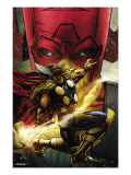 Beta Ray Bill: Godhunter 1 Cover: Beta-Ray Bill and Galactus Poster by Patrick Zircher
