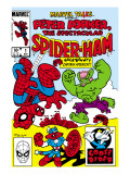 Marvel Tails: Spider-Ham No.1 Cover: Spider-Ham, Captain Americat and Hulkbunny Flying Prints by Armstrong Mark