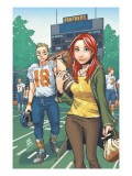 Mary Jane: Homecoming 3 Cover: Watson, Mary Jane, Thompson and Flash Fighting Posters by Miyazawa Takeshi
