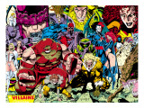X-Men No.1 Pin-up Group: A Villains Gallery Poster by Jim Lee