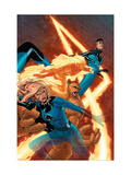 Marvel Knights 4 No.9 Cover: Mr. Fantastic, Invisible Woman, Human Torch, Thing and Fantastic Four Art by Steve MCNiven