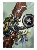 Secret Invasion No.1 Cover: Captain America, Spider-Man, Wolverine, Fantastic Four Prints by Leinil Francis Yu