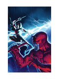 The Mighty Avengers No.16 Cover: Daredevil and Elektra Poster
